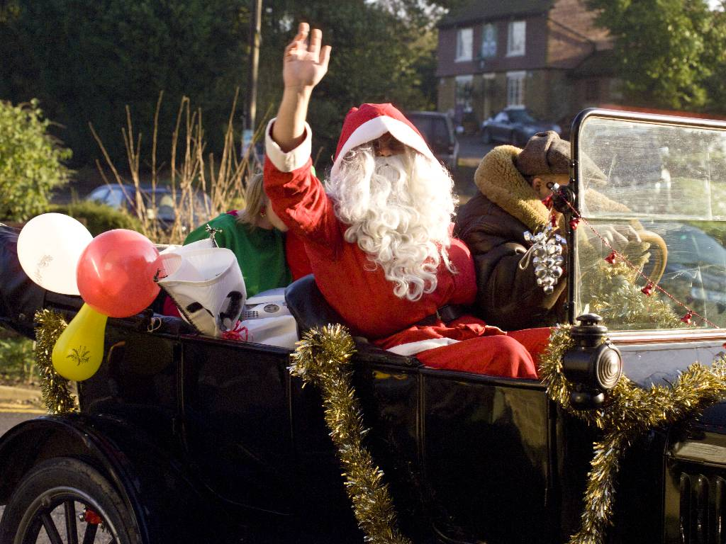 Father Christmas visits Thursley Village Hall