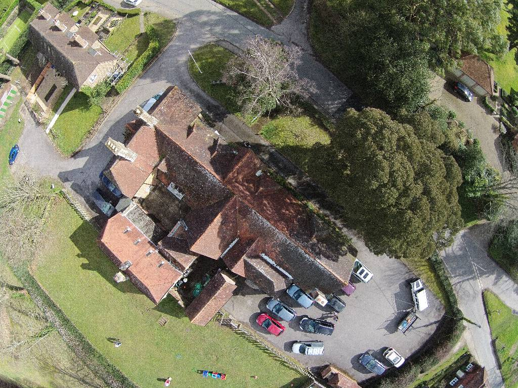 Thursley Village Hall from the air